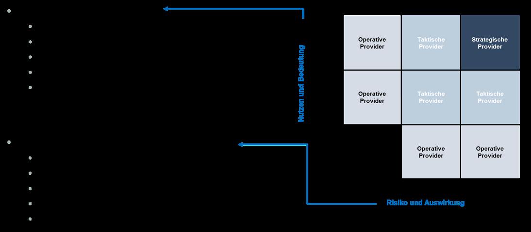 Abbildung 3: Kriterien für die Providerkategorisierung